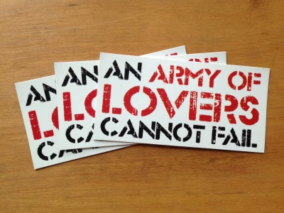army of lovers stickers